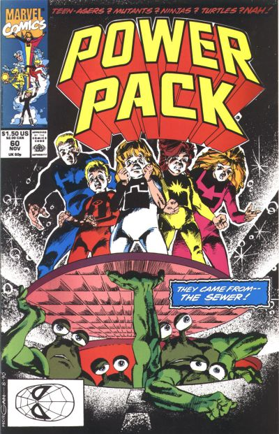 Cover for Power Pack (Marvel, 1984 series) #60