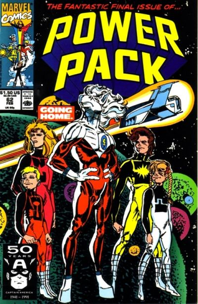 Cover for Power Pack (Marvel, 1984 series) #62