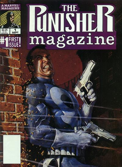 Cover for The Punisher Magazine (Marvel, 1989 series) #1 [Direct Edition]