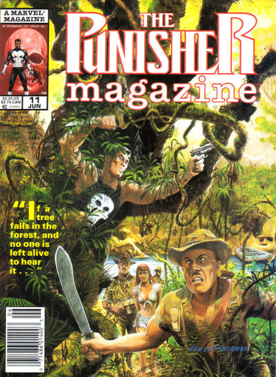 Cover for The Punisher Magazine (Marvel, 1989 series) #11 [Direct Edition]