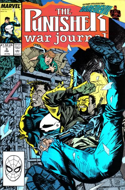 Cover for The Punisher War Journal (Marvel, 1988 series) #3 [Newsstand]
