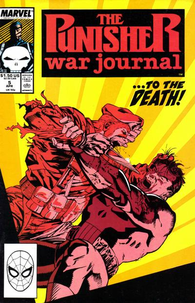 Cover for The Punisher War Journal (Marvel, 1988 series) #5