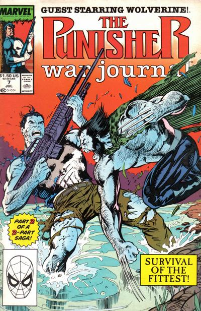 Cover for The Punisher War Journal (Marvel, 1988 series) #7 [Direct]
