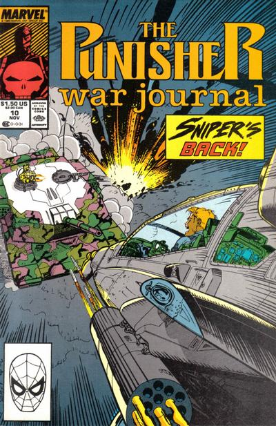 Cover for The Punisher War Journal (Marvel, 1988 series) #10 [Direct]