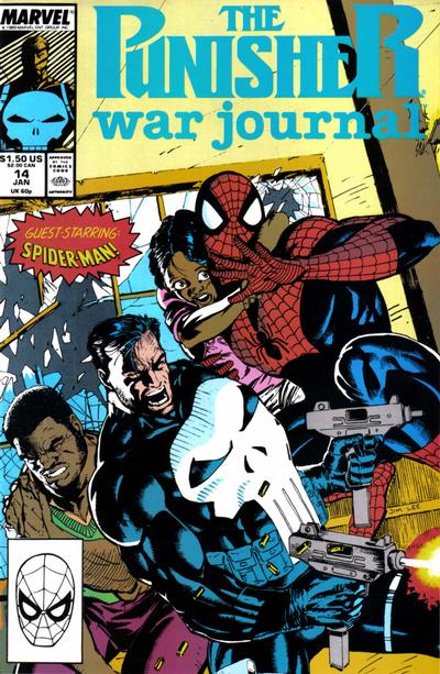 Cover for The Punisher War Journal (Marvel, 1988 series) #14 [Newsstand]