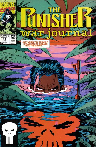 Cover for The Punisher War Journal (Marvel, 1988 series) #21 [Direct]