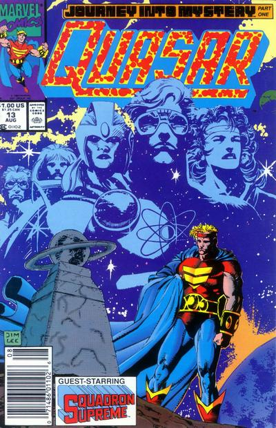 Cover for Quasar (Marvel, 1989 series) #13 [Newsstand]