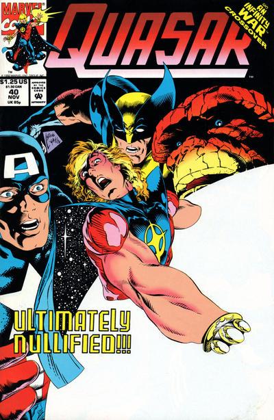 Cover for Quasar (Marvel, 1989 series) #40