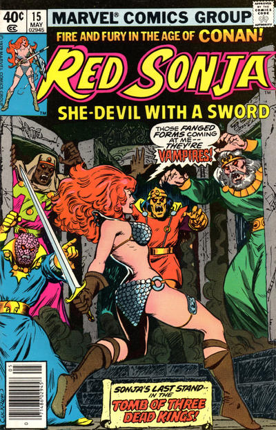 Cover for Red Sonja (Marvel, 1977 series) #15