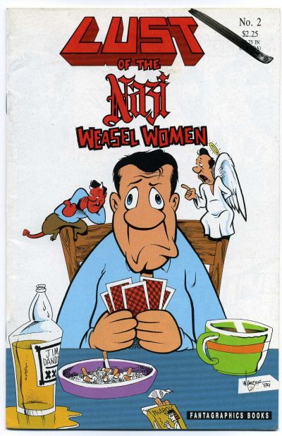 Cover for Lust of the Nazi Weasel Women (Fantagraphics, 1990 series) #2