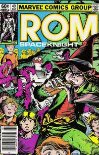 Cover Thumbnail for ROM (Marvel, 1979 series) #40 [Newsstand Edition]