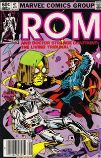 Cover Thumbnail for ROM (Marvel, 1979 series) #41 [Newsstand Edition]