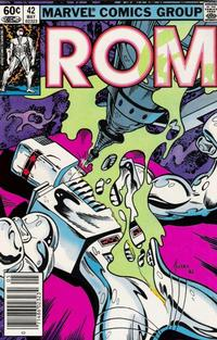 Cover Thumbnail for ROM (Marvel, 1979 series) #42 [Newsstand Edition]