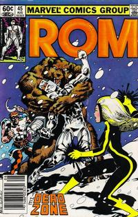 Cover Thumbnail for ROM (Marvel, 1979 series) #45 [Newsstand Edition]