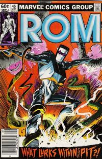 Cover Thumbnail for ROM (Marvel, 1979 series) #46 [Newsstand Edition]