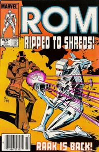 Cover Thumbnail for ROM (Marvel, 1979 series) #71 [Newsstand Edition]