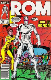 Cover Thumbnail for ROM (Marvel, 1979 series) #74 [Newsstand Edition]