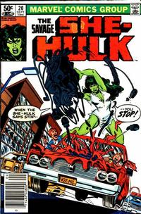 Cover Thumbnail for The Savage She-Hulk (Marvel, 1980 series) #20