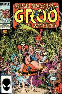 Cover for Sergio Aragonés Groo the Wanderer (Marvel, 1985 series) #24 [Newsstand Edition]