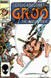 Cover for Sergio Aragonés Groo the Wanderer (Marvel, 1985 series) #25 [Direct Edition]