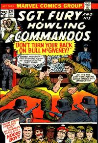 Cover Thumbnail for Sgt. Fury and His Howling Commandos (Marvel, 1974 series) #124