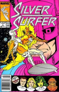 Cover Thumbnail for Silver Surfer (Marvel, 1987 series) #1 [Newsstand]