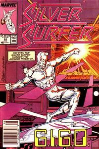 Cover Thumbnail for Silver Surfer (Marvel, 1987 series) #24 [Newsstand]