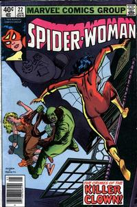 Cover Thumbnail for Spider-Woman (Marvel, 1978 series) #22 [Newsstand]