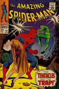 Cover for The Amazing Spider-Man (Marvel, 1963 series) #54 [Regular Edition]
