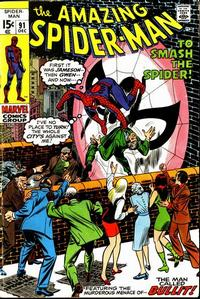 Cover Thumbnail for The Amazing Spider-Man (Marvel, 1963 series) #91 [Regular Edition]