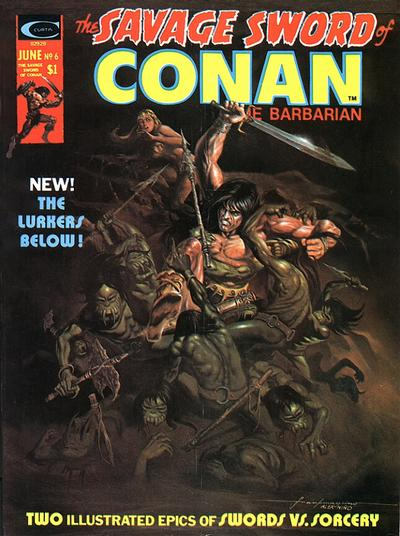 Cover for The Savage Sword of Conan (Marvel, 1974 series) #6