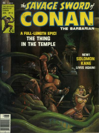 Cover for The Savage Sword of Conan (Marvel, 1974 series) #13