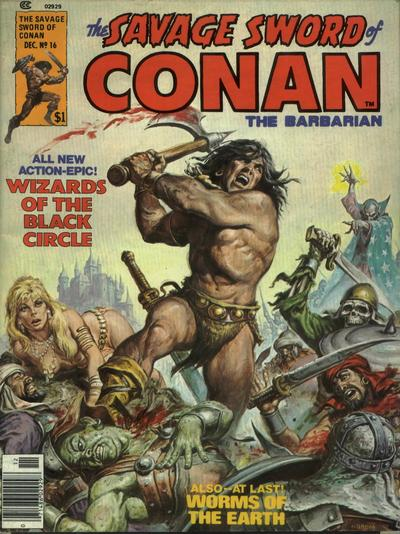 Cover for The Savage Sword of Conan (Marvel, 1974 series) #16