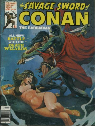 Cover for The Savage Sword of Conan (Marvel, 1974 series) #18