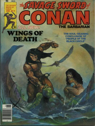 Cover for The Savage Sword of Conan (Marvel, 1974 series) #19