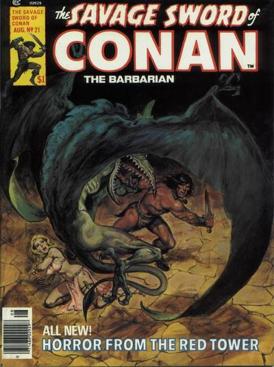 Cover for The Savage Sword of Conan (Marvel, 1974 series) #21