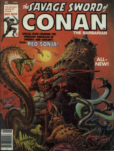 Cover for The Savage Sword of Conan (Marvel, 1974 series) #29