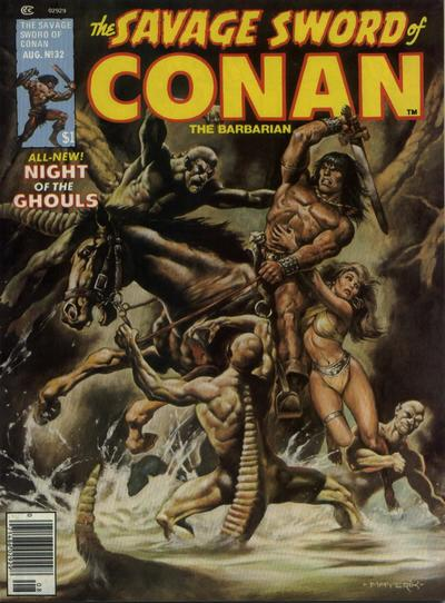 Cover for The Savage Sword of Conan (Marvel, 1974 series) #32