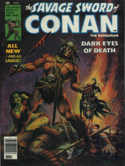 Cover for The Savage Sword of Conan (Marvel, 1974 series) #35
