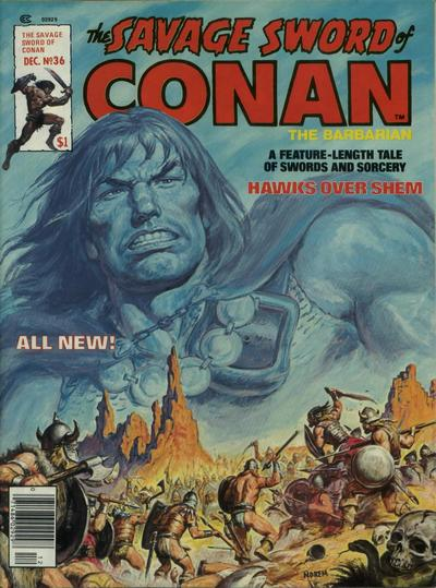 Cover for The Savage Sword of Conan (Marvel, 1974 series) #36