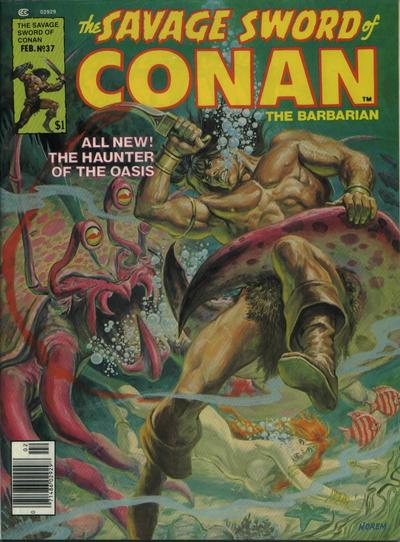 Cover for The Savage Sword of Conan (Marvel, 1974 series) #37