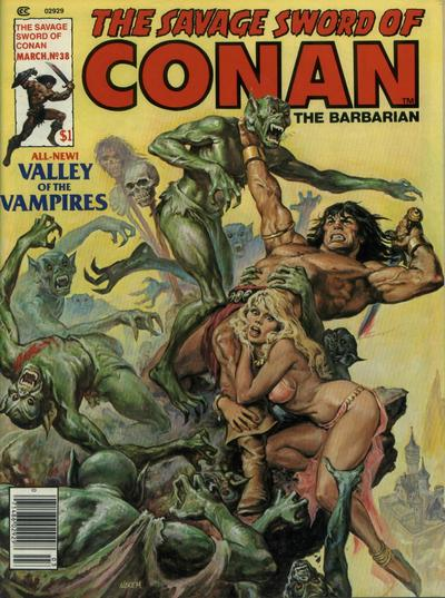 Cover for The Savage Sword of Conan (Marvel, 1974 series) #38