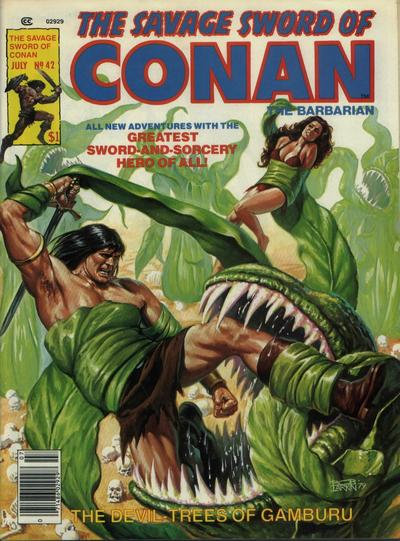 Cover for The Savage Sword of Conan (Marvel, 1974 series) #42