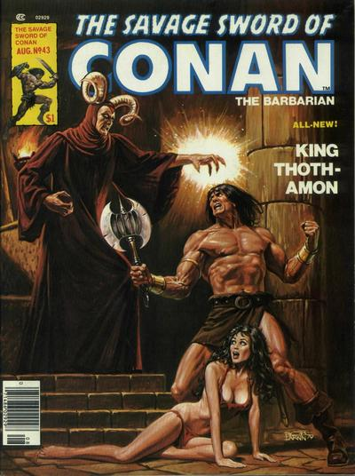 Cover for The Savage Sword of Conan (Marvel, 1974 series) #43
