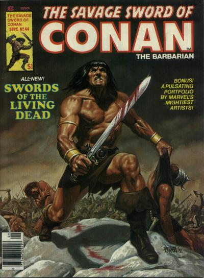 Cover for The Savage Sword of Conan (Marvel, 1974 series) #44