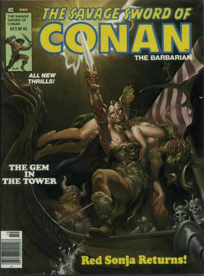Cover for The Savage Sword of Conan (Marvel, 1974 series) #45