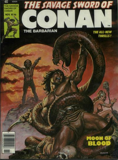 Cover for The Savage Sword of Conan (Marvel, 1974 series) #46