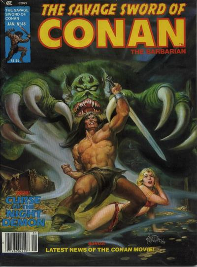 Cover for The Savage Sword of Conan (Marvel, 1974 series) #48