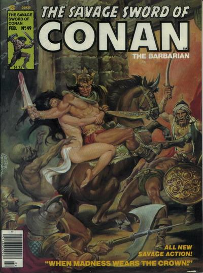 Cover for The Savage Sword of Conan (Marvel, 1974 series) #49