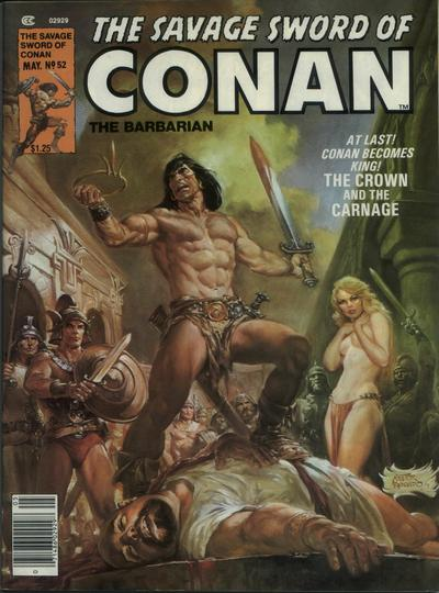 Cover for The Savage Sword of Conan (Marvel, 1974 series) #52